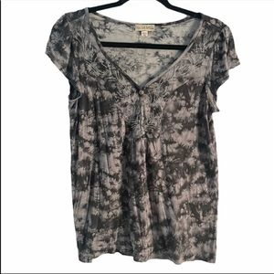 Live and Let Live Tie Dye Blouse